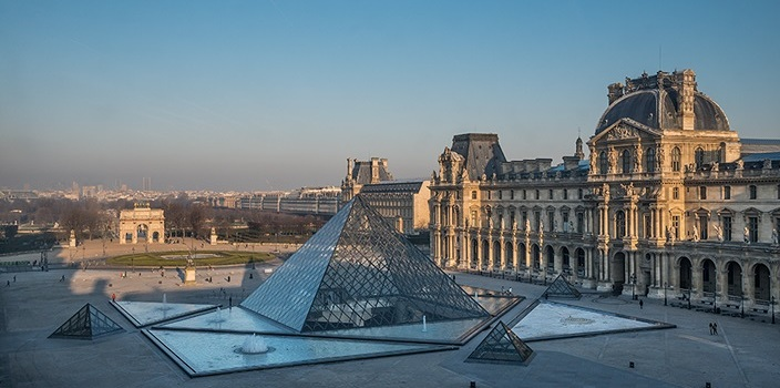 former palace of the kings of france the louvre museum presents vast and rich collections in all more than 38 000 works of the ancient civilizations