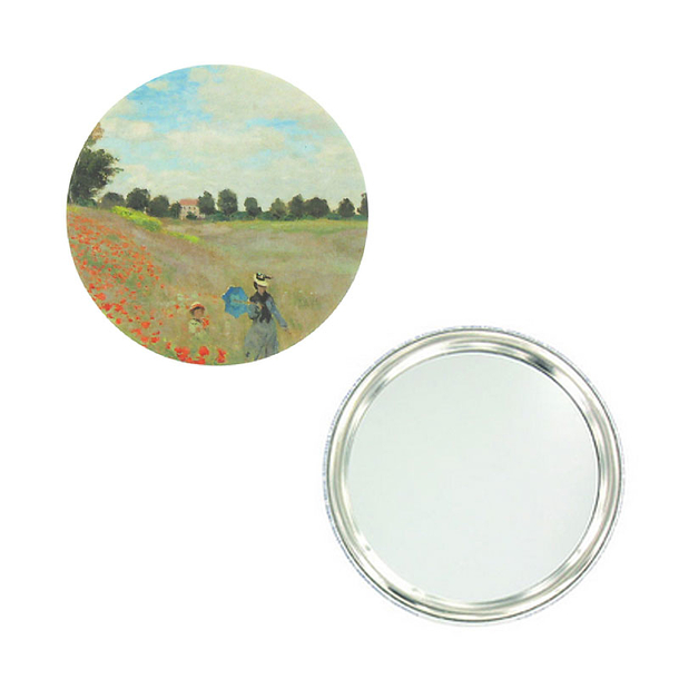 Monet Poppies Purse mirror