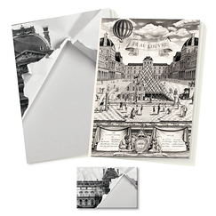 """JR at the Louvre"" Stationery"