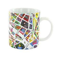Map of Paris mug