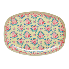 Serving tray melamine - Rice - Dutch Rose