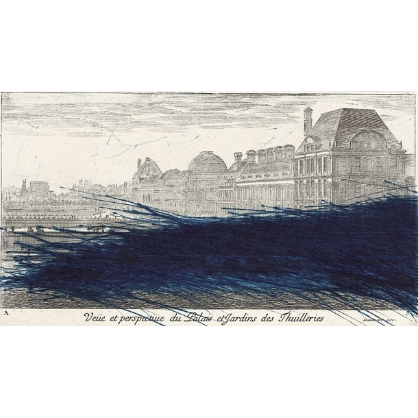 View and perspective of the palace and gardens of the Tuileries, 1992 - Arnulf Rainer
