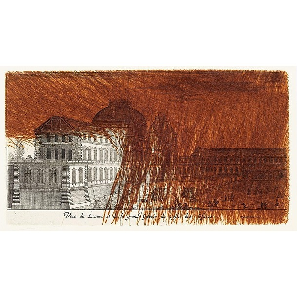 View of the Louvre and the Grand Gallery from the offices side, 1992 - Arnulf Rainer