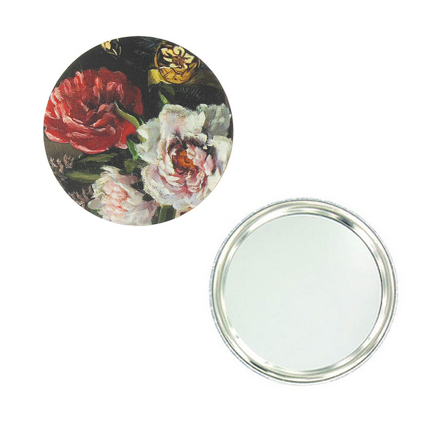 Bazille Flowers Pocket Mirror