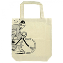 Bag Tintin on a bicycle