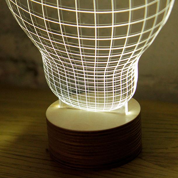 lampe led effet 3d bulbing boutiques de mus es. Black Bedroom Furniture Sets. Home Design Ideas