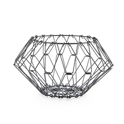 Folding Wire Basket Black