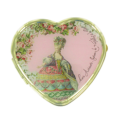 Heart-shaped pillbox - Engravings of fashion at the time of Marie-Antoinette