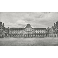 The Louvre revisited by JR, June 20, 2016 © Pyramide, architect I.M. Pei, Louvre Museum, Paris, France
