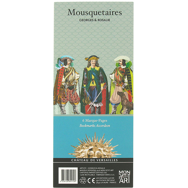 6 marque pages mousquetaires boutiques de mus es for Papeterie pau