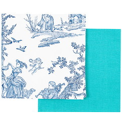 Set of 2 napkins Toile de Jouy