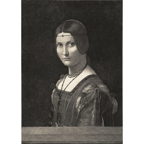 "Portrait of a woman, known as ""La belle ferronnière"" - Leonardo da Vinci"