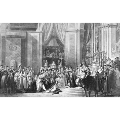 Sacrament of Emperor Napoleon I and coronation of Empress Josephine in the Cathedral of Notre-Dame de Paris