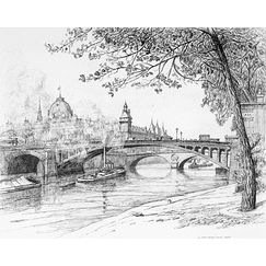 Notre-Dame Bridge in Paris - Caroline Armington