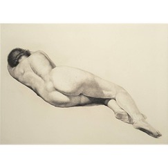 Nude lying down - Troussard