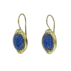 Scarab earrings with the name of Queen Iahhetep