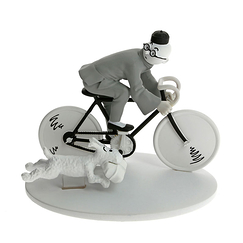 Tintin on a bicycle