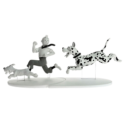 Tintin, Snowy and the Great Dane