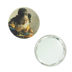 """The Lacemaker"" purse mirror"