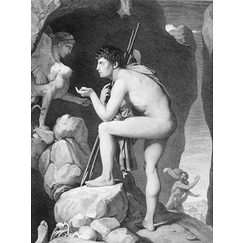 Oedipus explains the enigma of the sphinx - Ingres