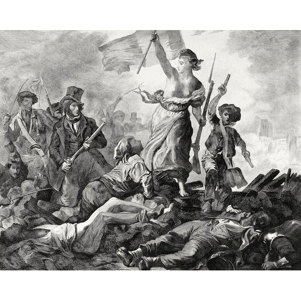 Freedom guiding the people. July 28, 1830 - Delacroix