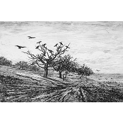 The tree with crows - Charles-François Daubigny