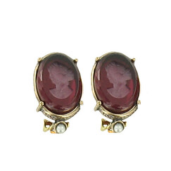 Intaglio with the effigy of Josephine Earrings