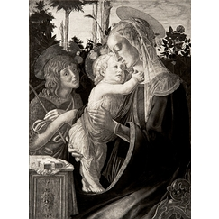 The Virgin, the child Jesus and Saint John - Botticelli