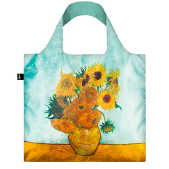 Van Gogh Shopping Bag Vase with Sunflowers - Loqi