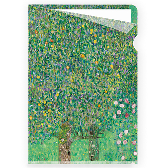 "Clear file A4 - ""Rosebushes under the trees"""