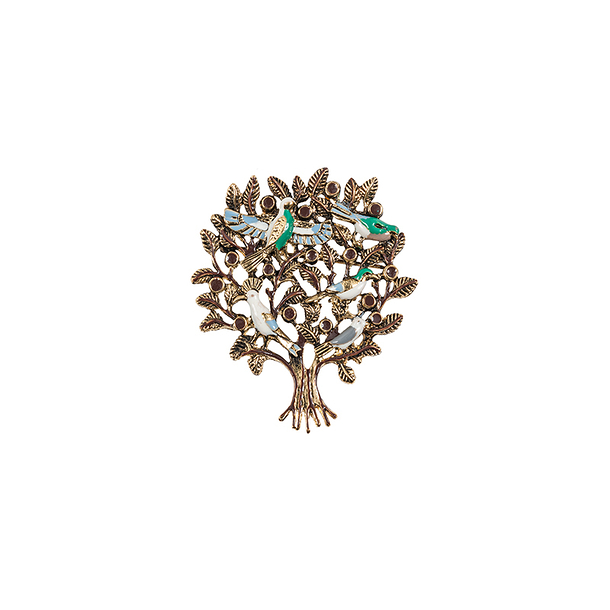 Tree of Life brooch based on an ancient stone