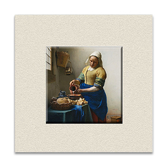 """The Milkmaid"" with top mat"