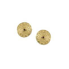 Disk Earrings - Clip