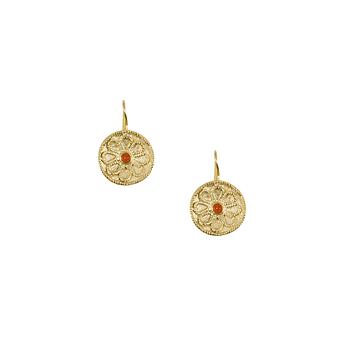 style exquis super populaire le prix reste stable Boucles d'oreilles Disque perles oranges