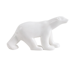 Figurine Ours blanc Pompon