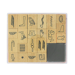 Hieroglyphs stamp kit