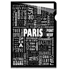 Paris Typo - Clear file A4