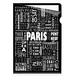 Paris Typo Clear file - A4
