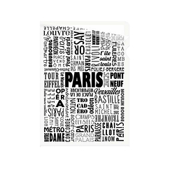 Paris Typo Clear file - A5