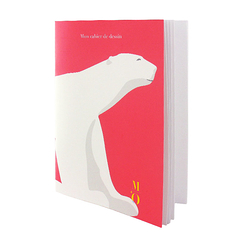 Pompon Polar Bear Sketching book