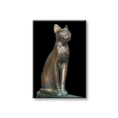 The goddess cat Bastet Magnet