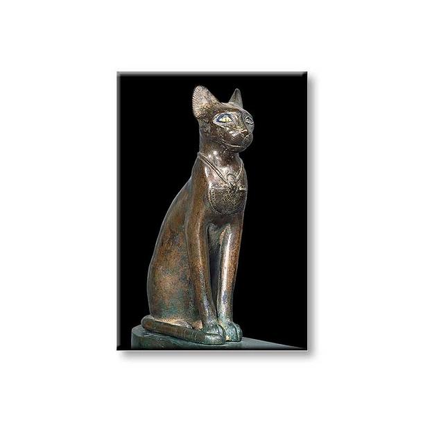 The goddess cat Bastet Magnet