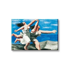 Picasso Magnet Two women running on the beach