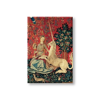 """The Lady and the Unicorn - The Sight"" Magnet"