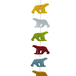 """Pompon Polar Bear"" garland"