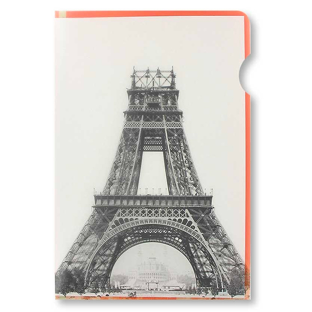 Eiffel Tower in construction Clear file - A4