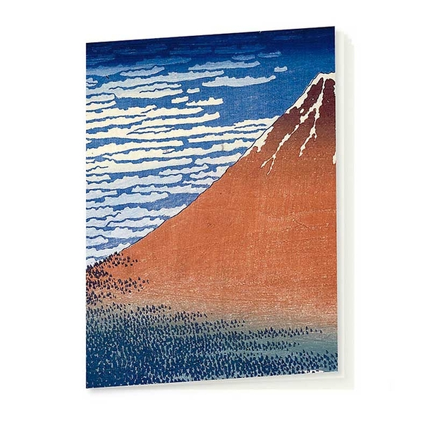 Hokusai Red Fuji Notebook