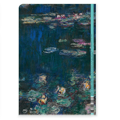 Water Lilies, green reflections Monet Clear file - A4