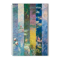 Monet Waterlilies Spiral notebook