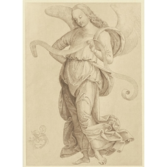 Study of an angel standing upright - Pietro Perugino